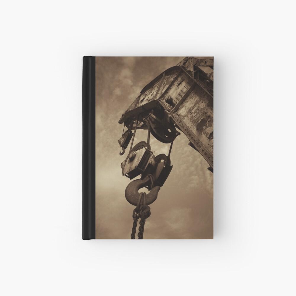Retired crane - sepia Hardcover Journal