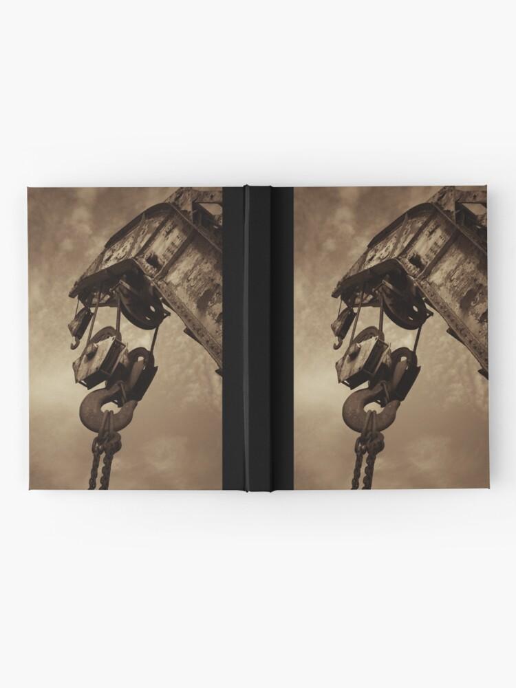 Alternate view of Retired crane - sepia Hardcover Journal