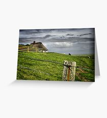 Bauernhof Insel Greeting Card