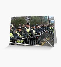 Police Barricades Greeting Card