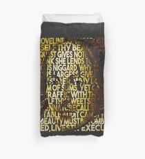 Shakespeare-Sonett 4 Text-Porträt Bettbezug