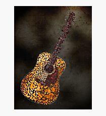 Abstract Guitar in Squares Photographic Print