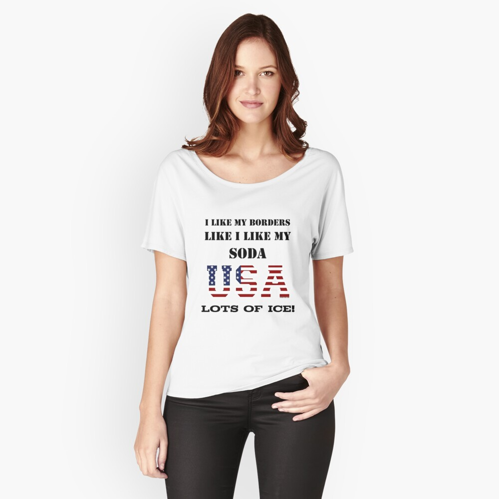 USA Borders Like Soda Relaxed Fit T-Shirt