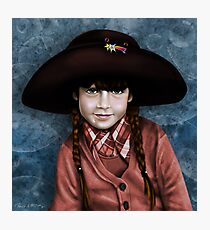 Daddy's Hat (red & turquoise ) Photographic Print