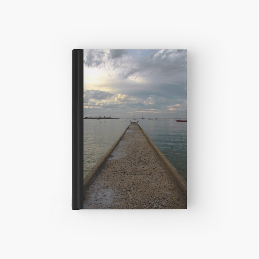 Old jetty Hardcover Journal