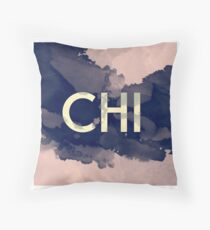 greek letter chi Throw Pillow