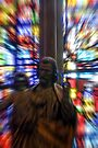Zoom effect on statue & stained glass window by David Carton