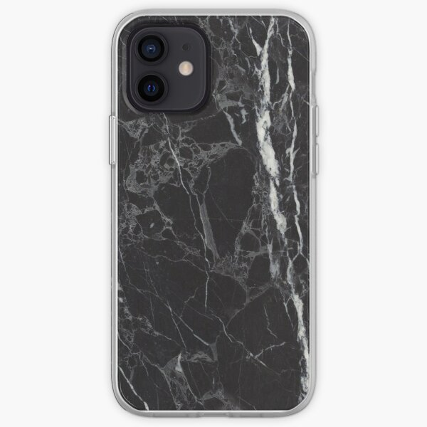 Black marble Phone cases iPhone Soft Case