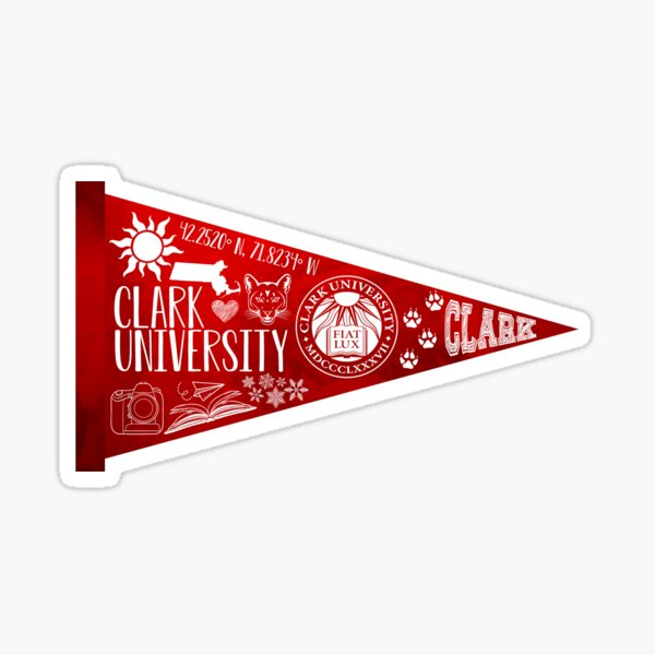 Clark University Pennant Sticker