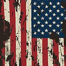 ★ Vintage Distressed USA Flag by cadcamcaefea