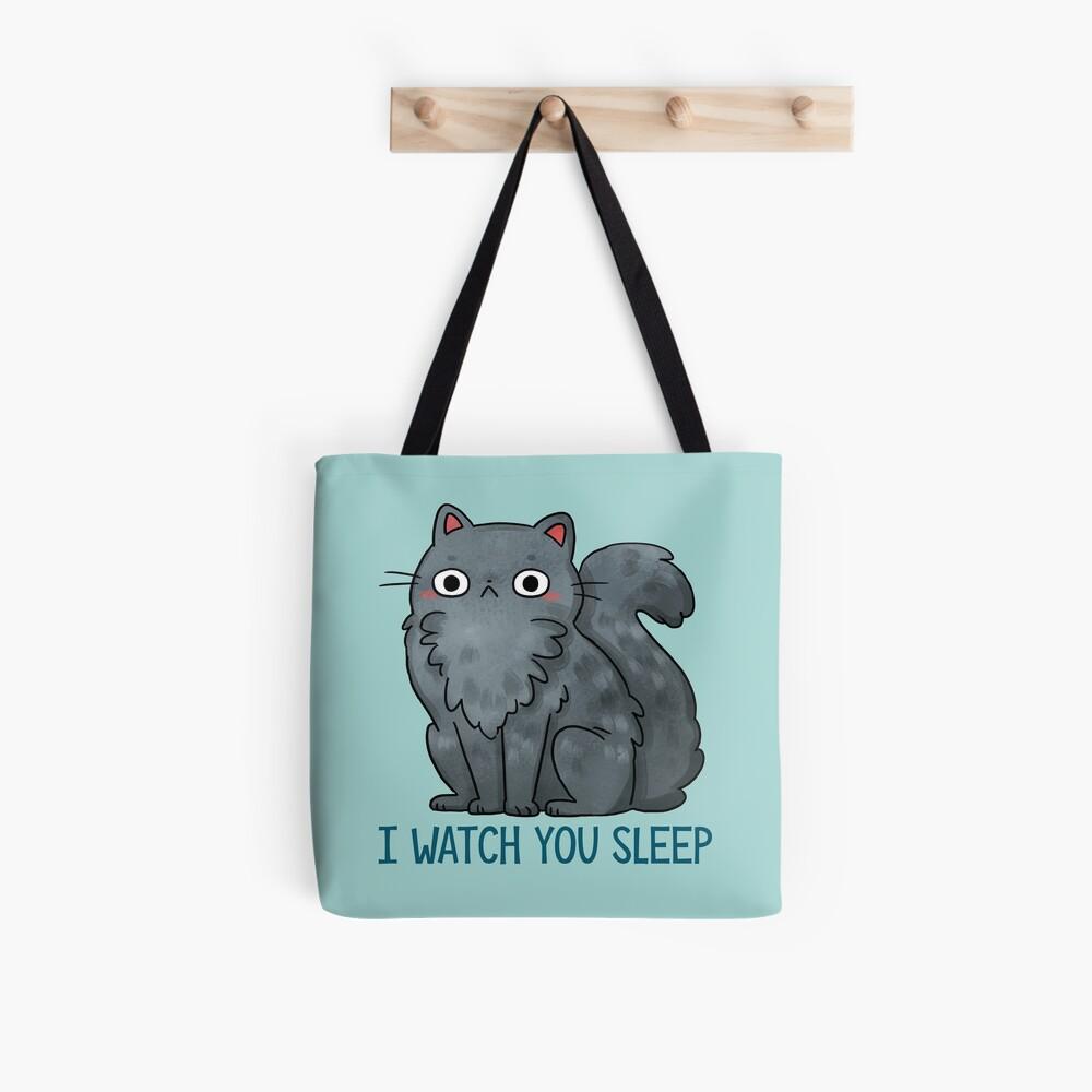 Creepy Cat - That watches you sleep  Tote Bag