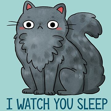 Creepy Cat - That watches you sleep  by michelledraws