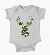 Camo Buck - Hunting T-shirt Kids Clothes
