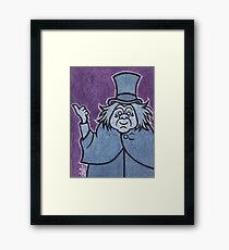 Phineas - Hitchhiking Ghost - The Haunted Mansion Framed Print