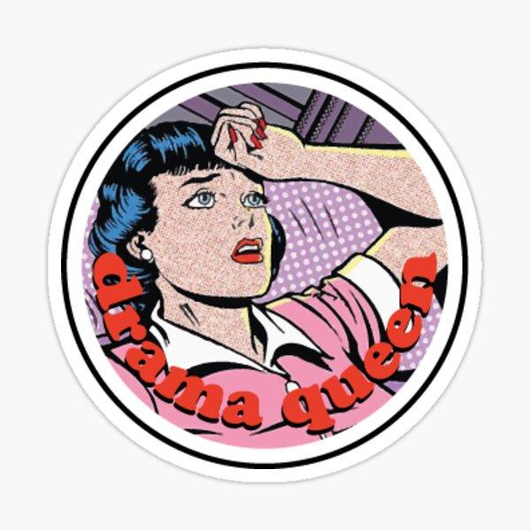 drama queen badge Sticker