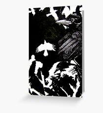 Crows (Drawn on cartridge paper) Greeting Card