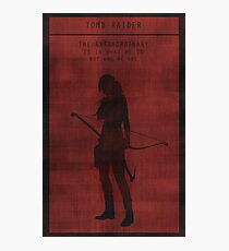Tomb Raider Gaming Poster Photographic Print