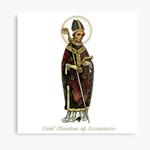 Saint Stanislaus of Szczepanów, the Martyr - english subtitle  Metal Print