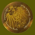Gold Imperial German Eagle on a gold by edsimoneit