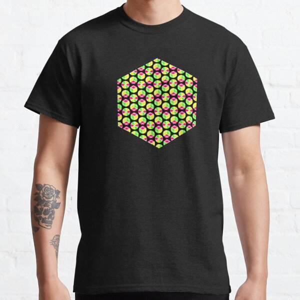 About Four Hexagonal Rings of Cubey Dots Classic T-Shirt