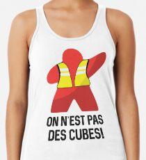 Camiseta de tirantes para mujer Chaleco Amarillo Meeple