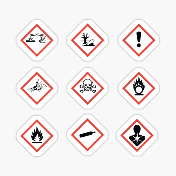 Chemical Hazard Symbols Sticker
