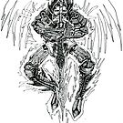 Demon lord .Created 2004 on cartridge paper  by James  Guinnevan Seymour