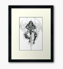 Demon lord .Created 2004 on cartridge paper  Framed Print