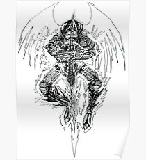 Demon lord .Created 2004 on cartridge paper  Poster