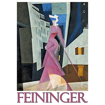 Lady in Mauve by Lyonel Feininger by Chunga