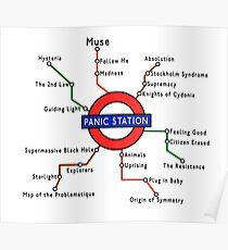 Panic Station Underground Map Poster