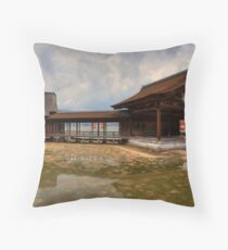 Water Shrine Throw Pillow