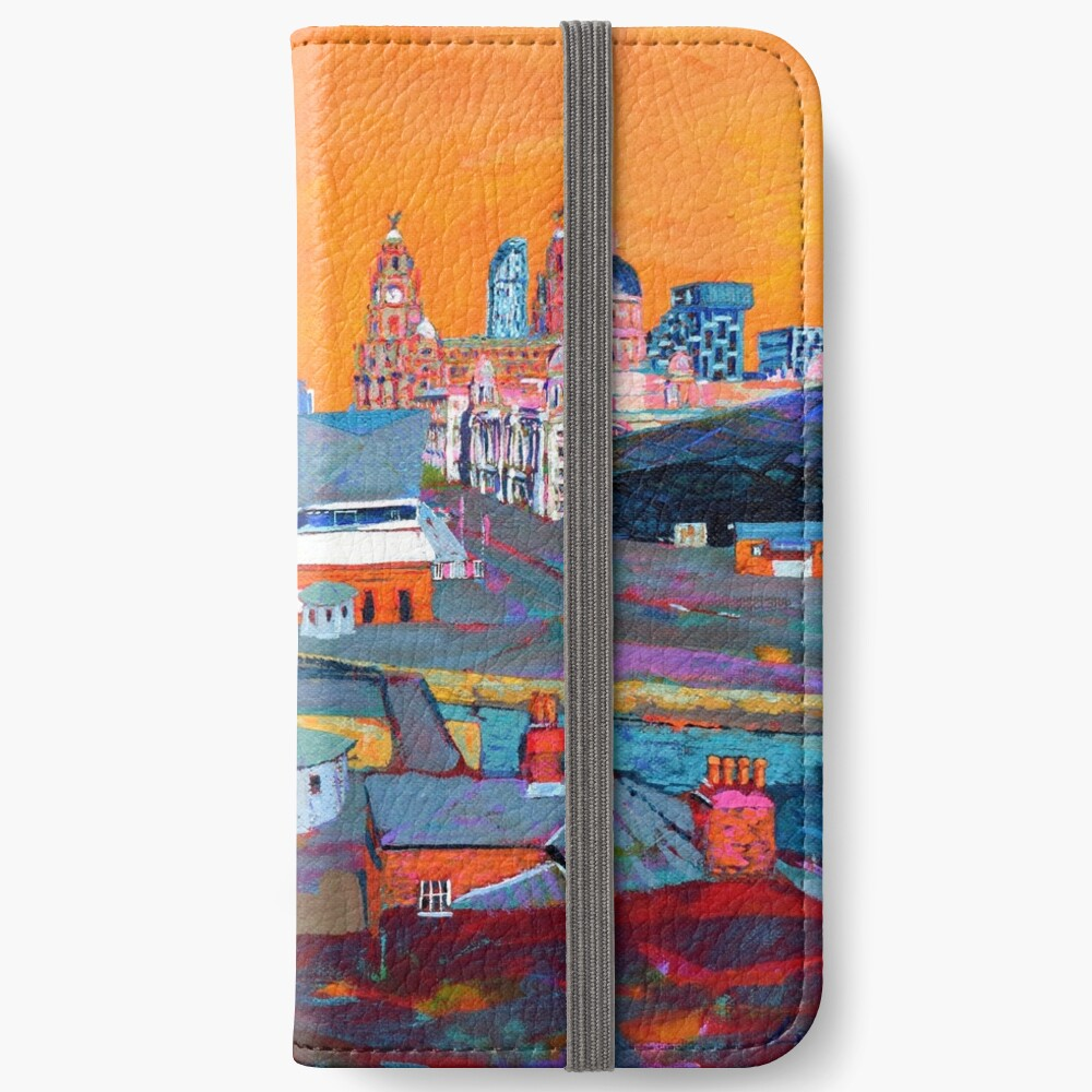 Liverpool: The Pier Head from the Tate iPhone Wallet