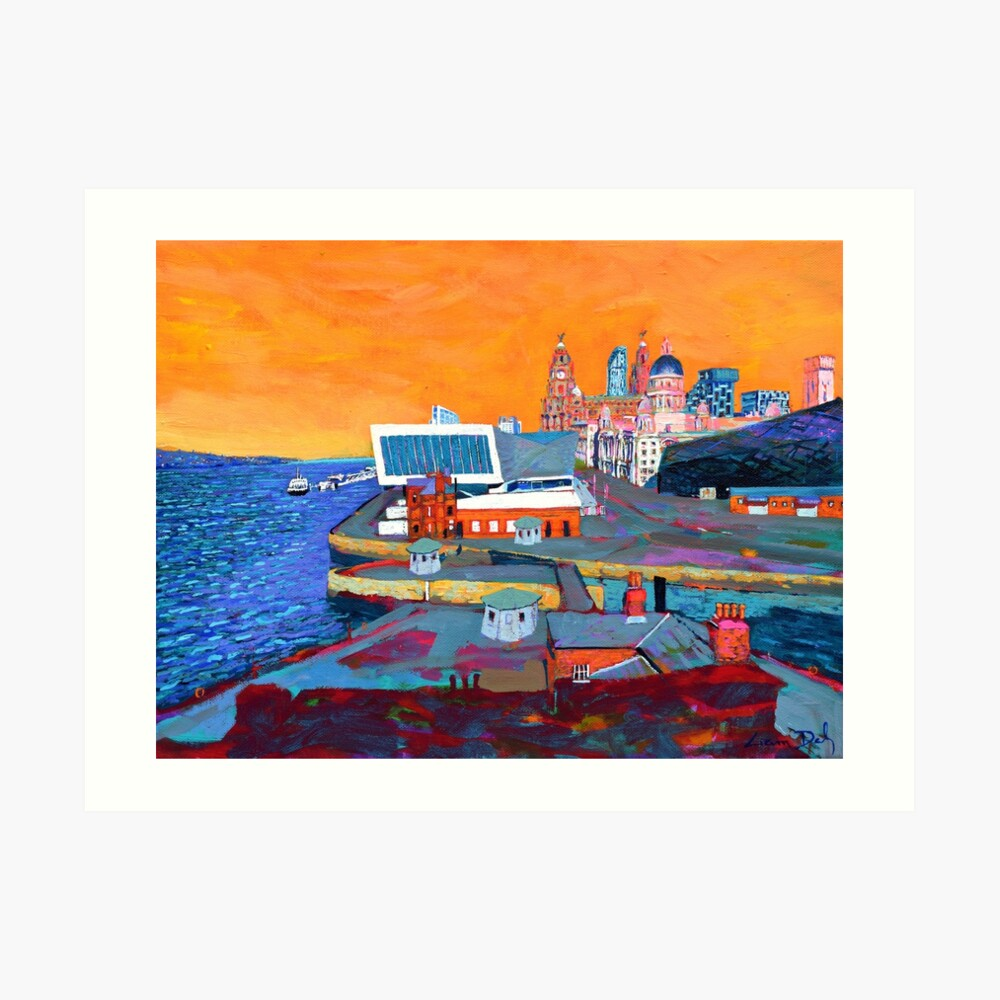 Liverpool: The Pier Head from the Tate Art Print