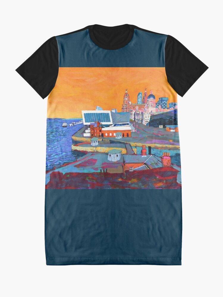 Alternate view of Liverpool: The Pier Head from the Tate Graphic T-Shirt Dress