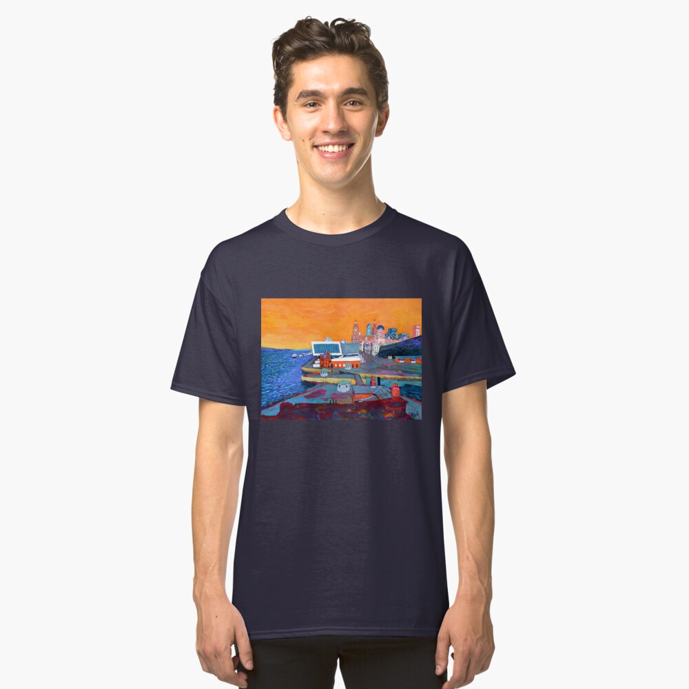 Liverpool: The Pier Head from the Tate Classic T-Shirt