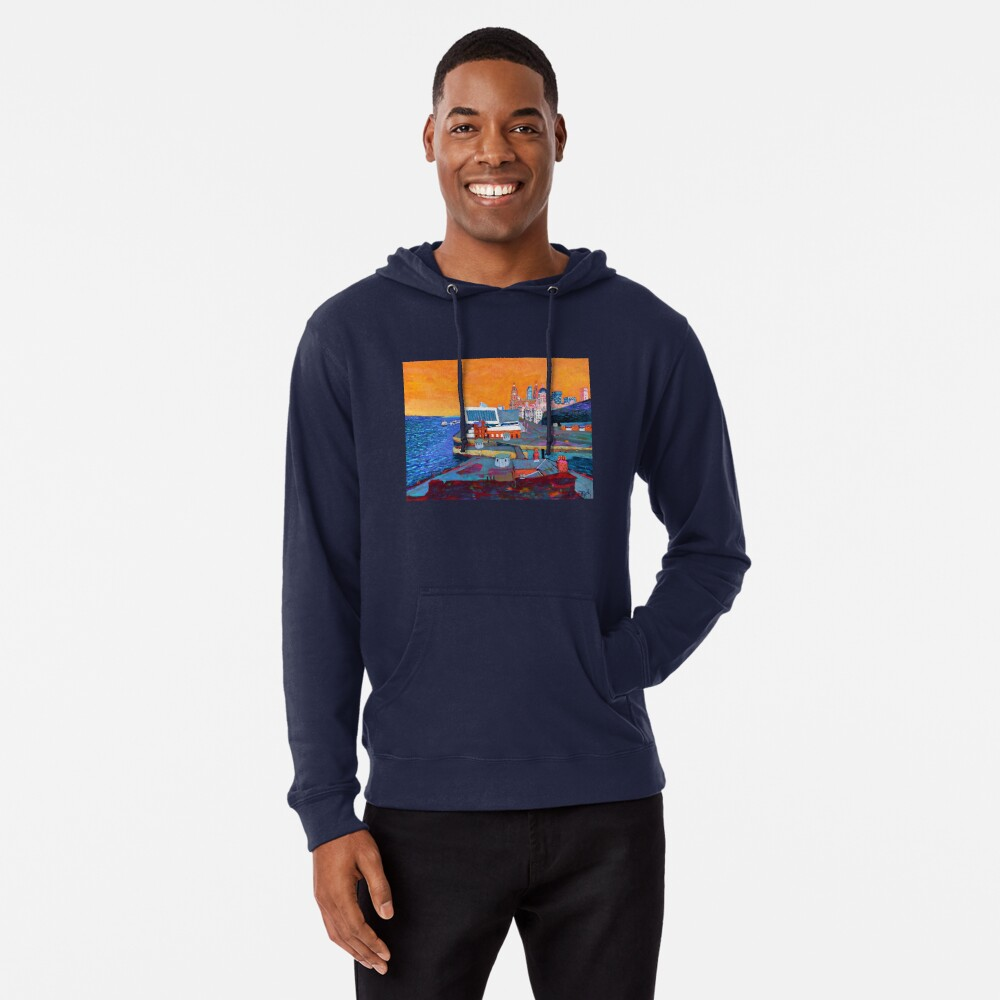 Liverpool: The Pier Head from the Tate Lightweight Hoodie