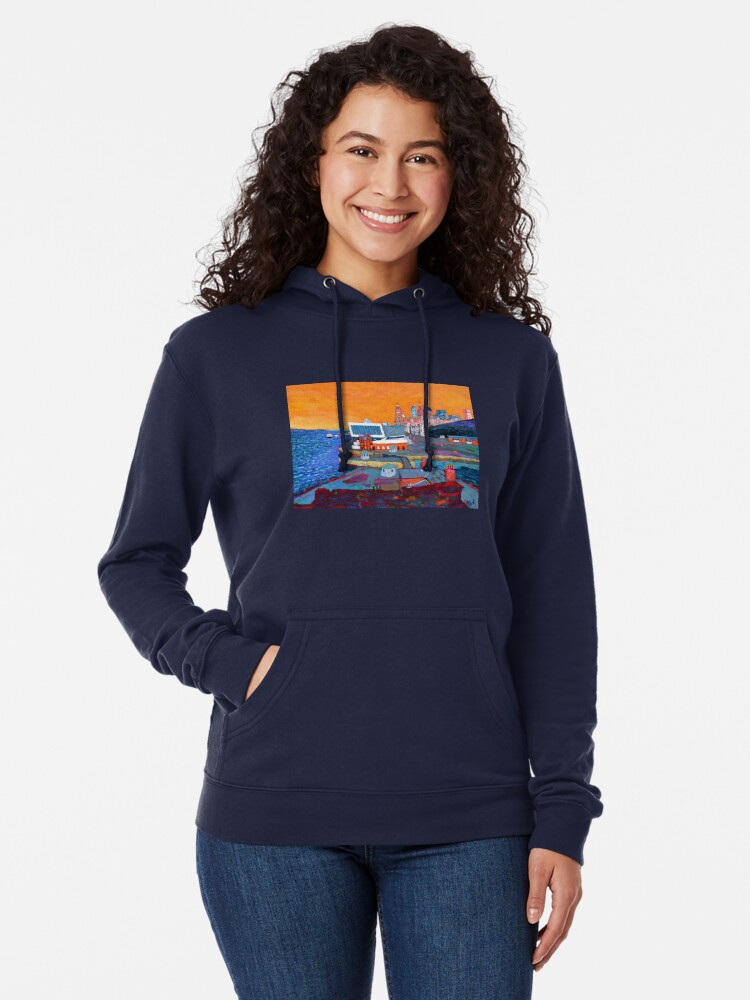 Alternate view of Liverpool: The Pier Head from the Tate Lightweight Hoodie