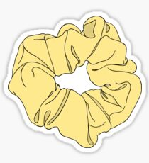 Yellow Scrunchie  Sticker