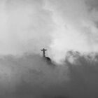 Christ The Redeemer in the Clouds by John Dalkin