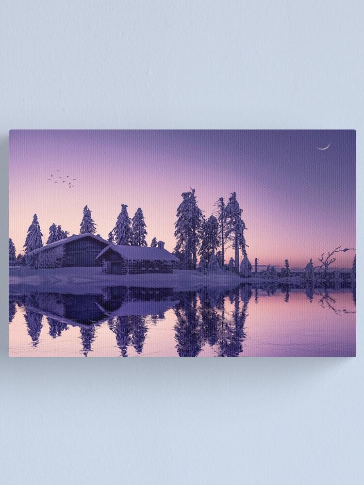 Impression sur toile ''Purple Duplication': autre vue