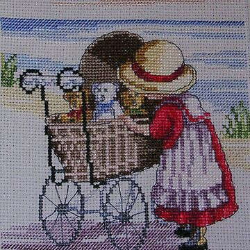 Doll Pram (Embroidery) by lezvee