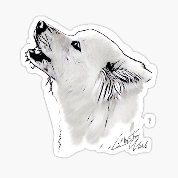 Samoyed howl Sticker