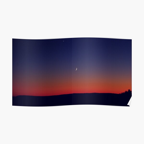 Twilight Waxing Crescent Zone Poster