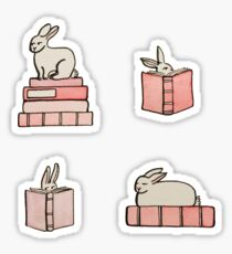 Hasen & Bücher Sticker
