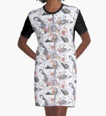Information Superhighway Graphic T-Shirt Dress