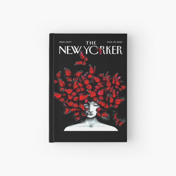NEW YORKER : Vintage Monarch Butterfly Magazine Print Hardcover Journal