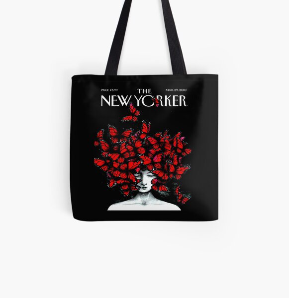 NEW YORKER : Vintage Monarch Butterfly Magazine Print All Over Print Tote Bag