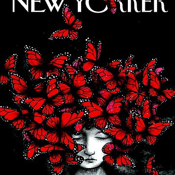 NEW YORKER : Vintage Monarch Butterfly Magazine Print by posterbobs