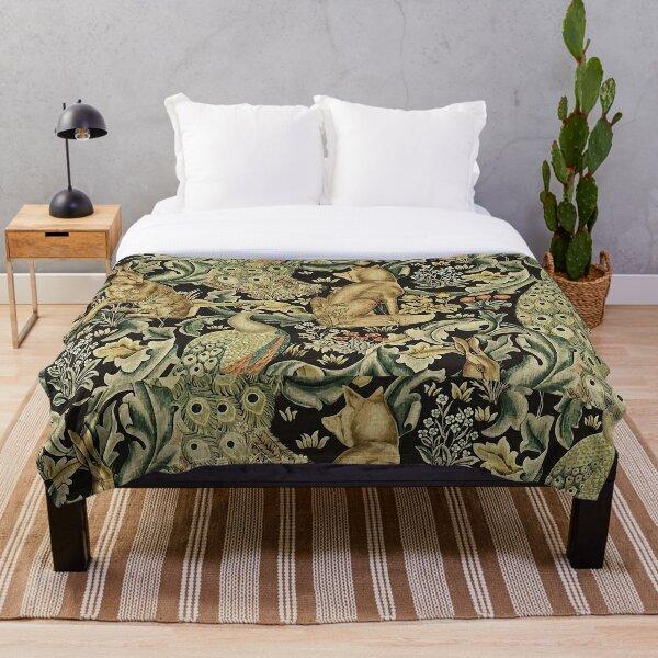 William Morris forest fabric Throw Blanket